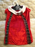 Holiday Dog Shirt With Ribbon Suspenders & Bowtie - Large Red -nwt