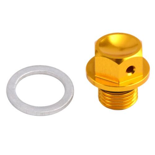 Magnetic Aluminum Oil Drain Bolt Plug w//Washer For Suzuki Street//Dirt Bike ATV