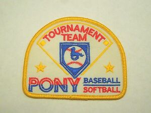 Details about Tournament Team Pony Youth Baseball Softball Iron On Patch
