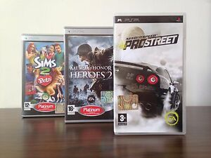 Sony-PSP-Lot-Games-Need-For-Speed-Medal-of-Honor-2-Sims-2-Pets-Complete