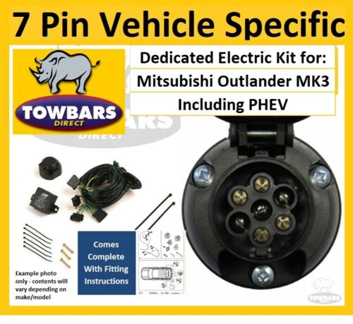 7 Pin towbar wiring kit for Mitsubishi Outlander 12/> Inc PHEV Dedicated Electric