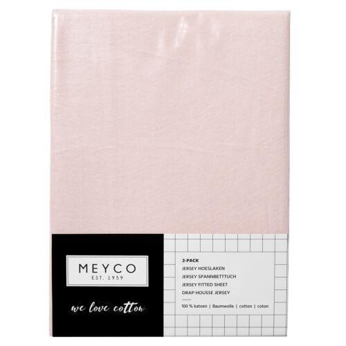 Meyco Jersey Spannbetttücher Spannbettlaken 2er Pack 70x140 150 hellrosa TOP