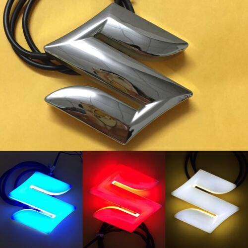 4D LED Car Tail Logo White Light for Suzuki Swifi Alto Jimmy Auto Badge Light