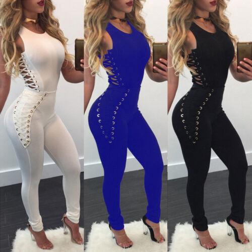 Women Ladies Clubwear Sleeveless Bodycon Romper Jumpsuit Party Playsuit Bodysuit