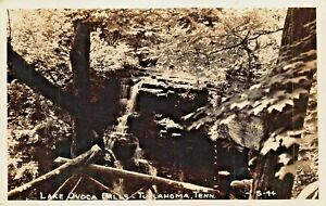 TULLAHOMA-TENNESSEE-LAKE-OVOCA-FALLS-1942-PSTMK-REAL-PHOTO-POSTCARD