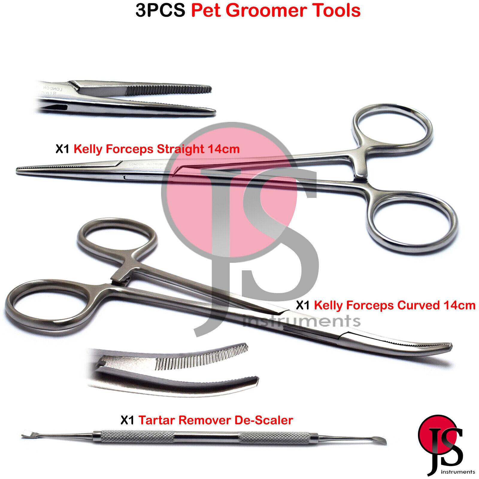 Pet Grooming Ear Hair Puller Hemostat Curved Locking Dog Tweezer 14cm Forcep New