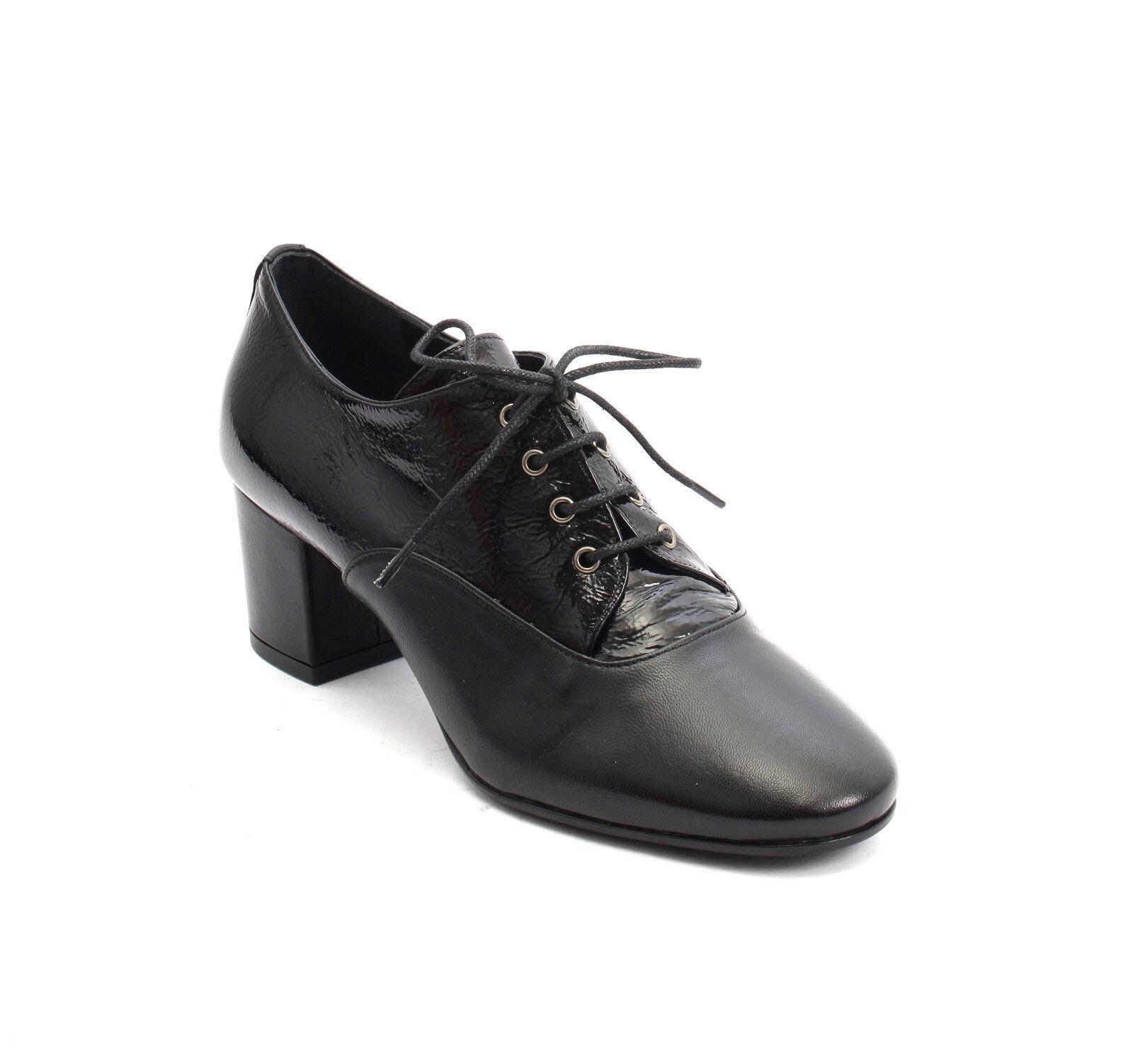 Isabelle 668 Negro Cuero Patente Punta Punta Punta rojoonda Encaje Botines Zapatos 41 US 11  en venta en línea