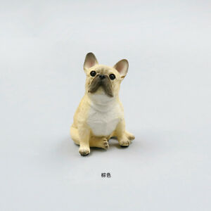 Resin-MINI-French-Bulldog-dog-Hand-Painted-simulation-model-Statue-YELLOW