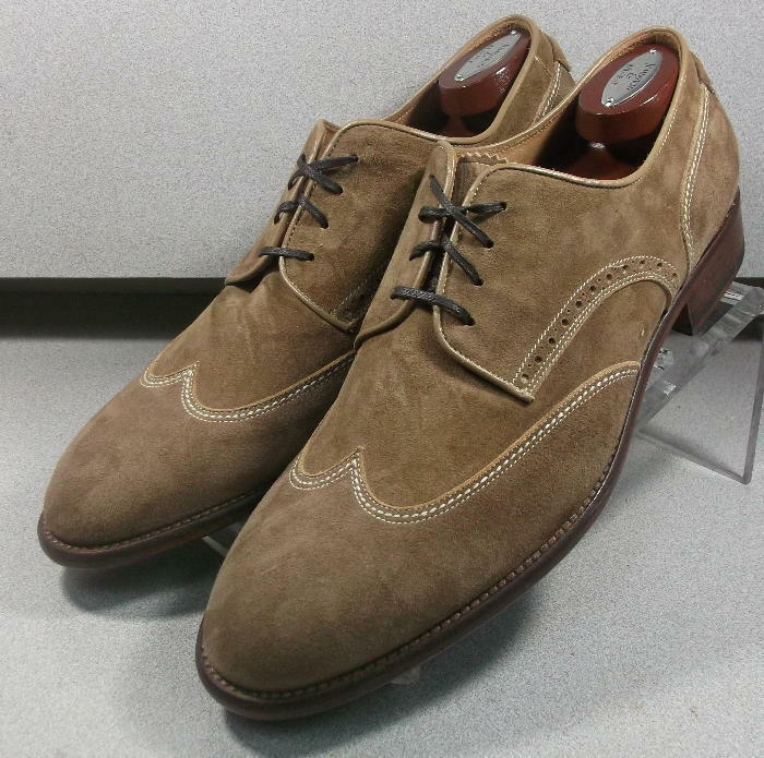 241340 MSi60 Men's shoes Size 11.5 M Tan Suede Made In  Johnston & Murphy