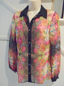 ATMOSPHERE-NWOT-GORGEOUS-SIZE-8-BLACK-FLORAL-BLOUSE
