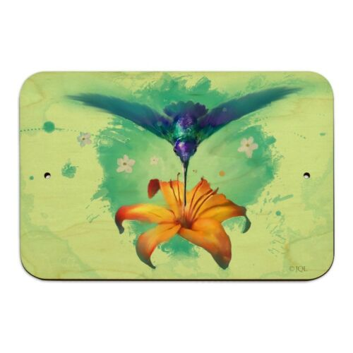 Hummingbird and Tiger Lily Flower Home Business Office Sign