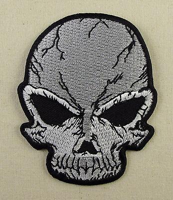 ALIEN SKULL  Iron On  Sew On Patch