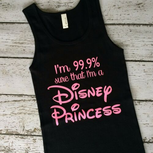 Disney Princess I/'m 99/% sure I/'m a Disney Tank Shirt Cinderella Snow White Ariel