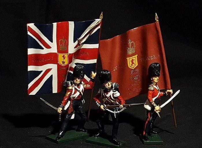 3 GUARDIE SCOTS 54mm W.BRITAIN VICTORIA CROSS CRIMEA WAR 43072 SCOTS FUSILIE