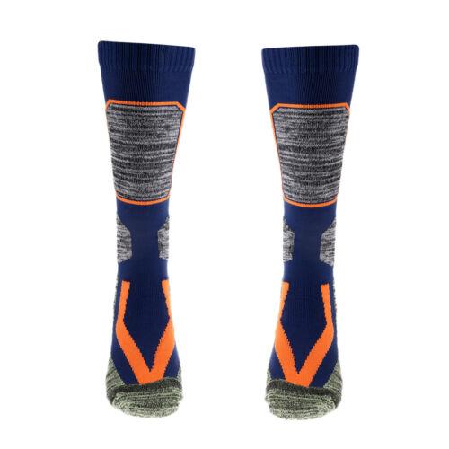 Long Ski Thermal Socks Winter Hiking Walking Skiiing Sports Socks Blue M
