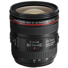 *NEW* Canon EF Lens EF 24-70 f/4L IS USM USM Macro Zoom Lens, White Box