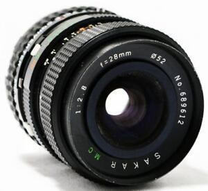 KALIMAR-SAKAR-M-C-28mm-f-2-8-KA-MOUNT-WIDE-ANGLE-PRIME-LENS-2x-TELECONVERTER