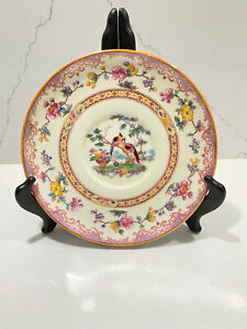 Spode-Copeland-China-England-for-Tiffany-amp-Co-NY-porcelain-plate-Eden-Pink-7-034