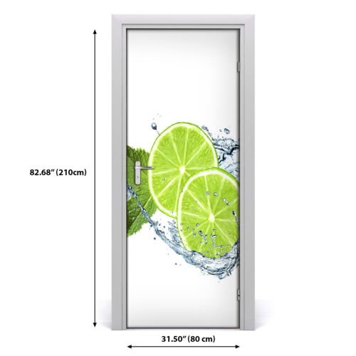 Details about  /3D Home Art Door Wall Self Adhesive Removable Sticker Decal Food limes