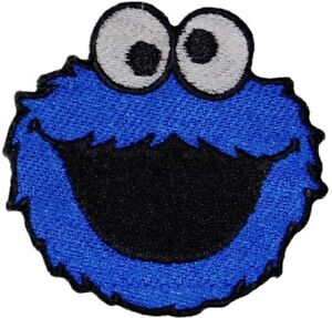 Cookie-Monster-Sesame-Street-Appliques-Embroidered-Iron-on-sew-on-Patch-Cartoon