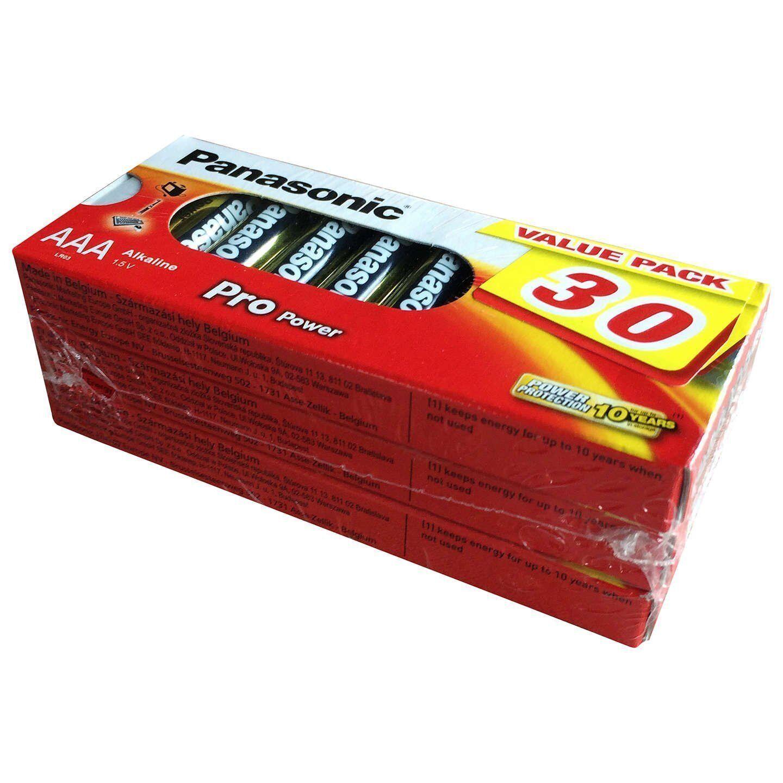 Panasonic Pro Power AAA Batteries 1.5v, Value pack of 30 (3x Blister pack of 10)