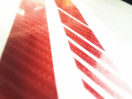 2X 30.5*2CM 5D Auto Car Rearview Mirror Stripe Sticker Safety Decal Decoration