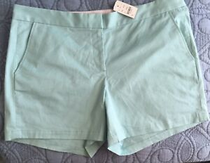 Size-14-NEW-Womens-034-346-034-Brooks-Brothers-Mint-Green-Chino-Shorts-NWT