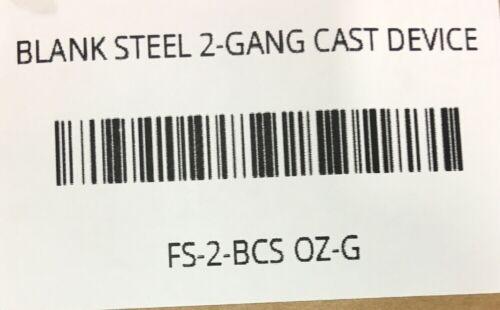 FS-2-BCS O.Z.//GEDNEY BLANK STEEL 2-GANG CAST DEVICE BOX COVER