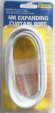 4M ampliar cortina ventana puerta nueva blanco plástico revestimiento con ganchos gratis