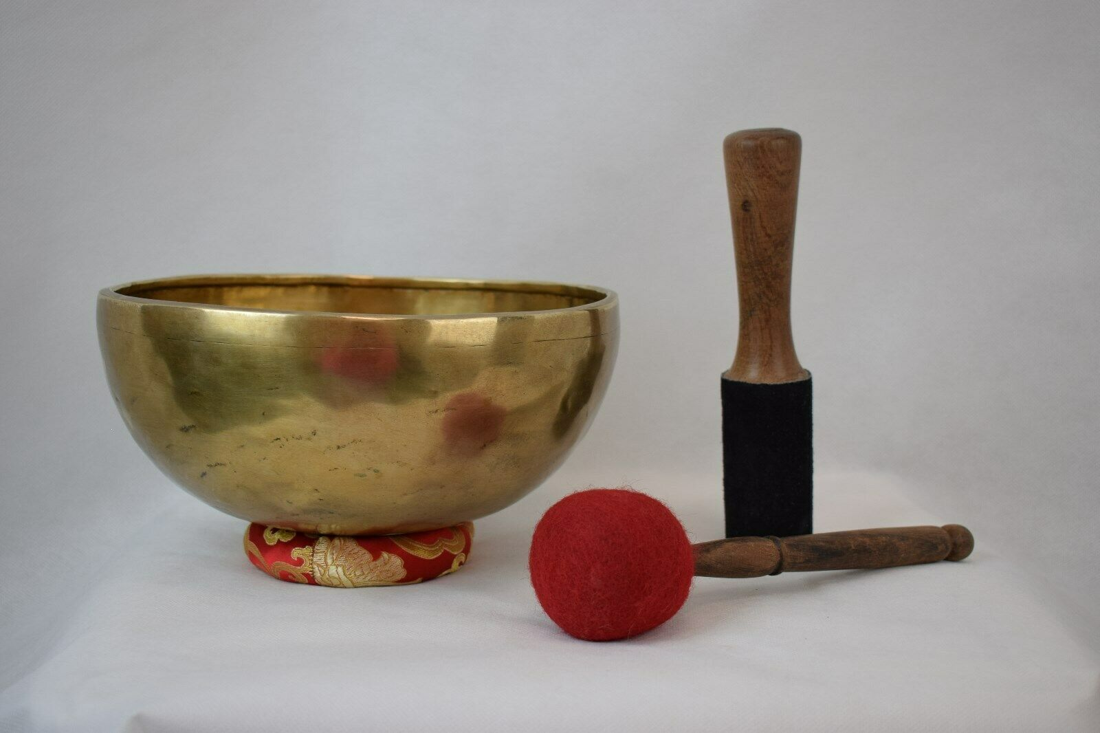Campana tibetana-7 metalli-forgiata a mano-originale Nepal -Shiva Lingam