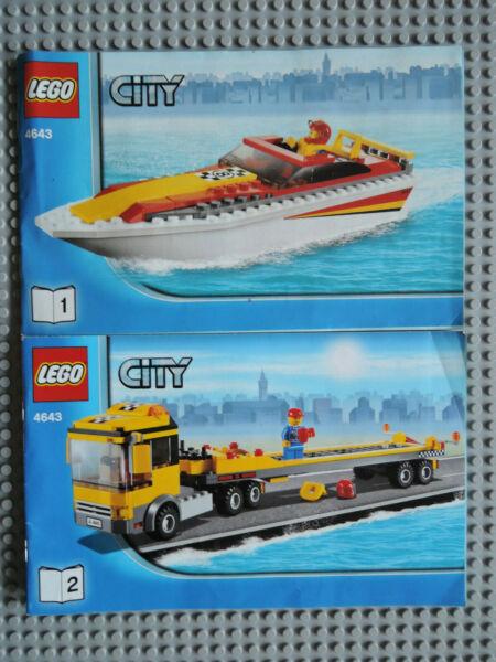 Lego De Recette/instruction City 4643 Fascicule 1 + 2 Exquis (En) Finition