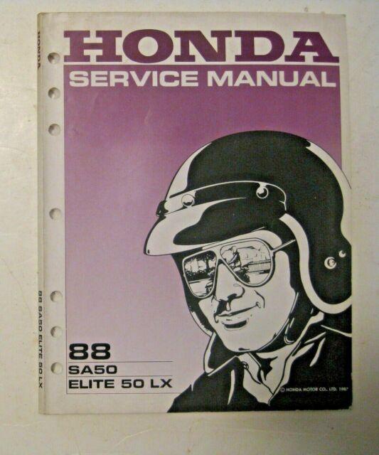 Vintage 1988 Sa50 Elite 50 Lx Honda Motorcycle Service