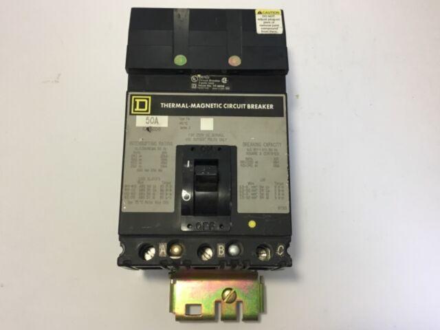 Square D FA36050 Circuit Breaker 50 Amp, 3-Pole, 600V Max