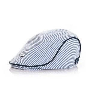Kids Baby Infant Toddler Boy Girl Beret Cap Peaked Cotton Stripe Sun Hat E TIY