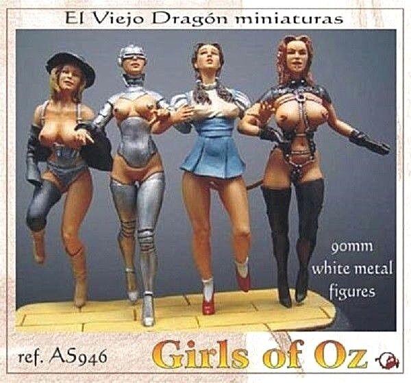 LES FILLES D'OZ, Figurines érojoiques EL VIEJO DRAGON 1 20 - 90 mm - Réf. AS9-46
