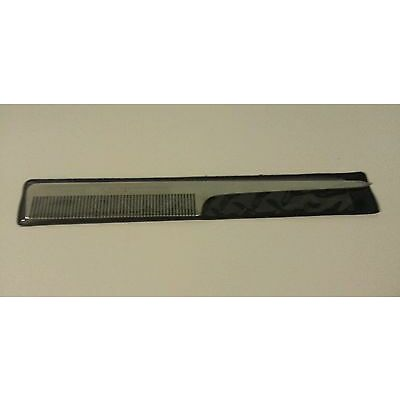 """8"""" Aluminium Tail Comb - New Quality Metal Comb With Cover - Barbers / Salon"""