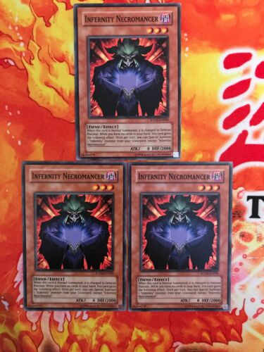 Yu-Gi-Oh 3x Infernity Necromancer SOVR-EN008 Mixed
