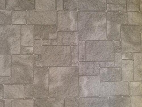 Grey Slate Worn Flagstones 44 x 30cms Dolls House 1//12th Scale Paper Flooring