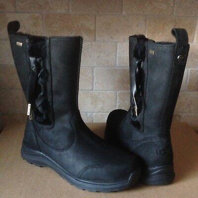 UGG Suvi Waterproof Black Bow Leather