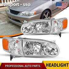 For 2001 2002 Toyota Corolla Headlights Headlamp Withcorner Signal Lamp Leftright Fits 2002 Toyota Corolla
