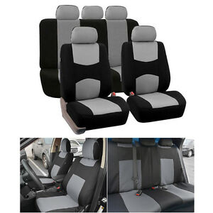Durable S M Size Car 5 Seats Grey Gray Seat Cover Mesh