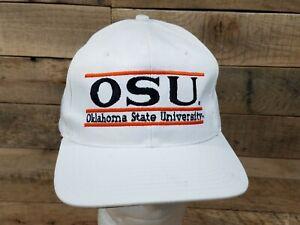 Vintage Oklahoma State University Cowboys Snapback Hat Cap The Game Split Bar