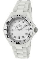 New Mens Invicta 1181 White Ceramic White Dial Quartz Casual Watch