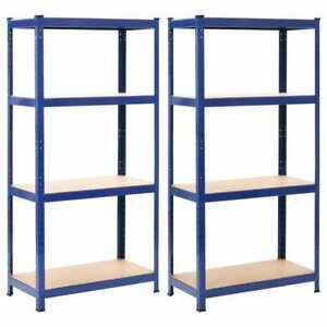 Détails sur vidaXL 2x Etagères de Rangement Bleu 80x40x160 cm Acier et MDF  Meuble Cuisine
