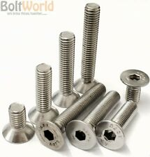 M3 M4 M5 M6 M8 A2 STAINLESS STEEL COUNTERSUNK BOLTS CSK ALLEN SOCKET SCREWS 7991
