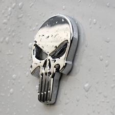 Punisher Scull Crome Car Sticker aus Metal selbstklebend Death Head Bike Auto