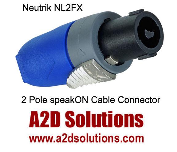 BOX-50   Neutrik NL2FX 2 Pole Female speakON Cable Connector
