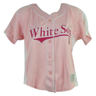 Sport Baseball & Softball Geschickt Mlb Chicago Weißes Sox Adrian Damen Jersey Damen Knopfleiste Rosa Baseball Sport Hohe Belastbarkeit