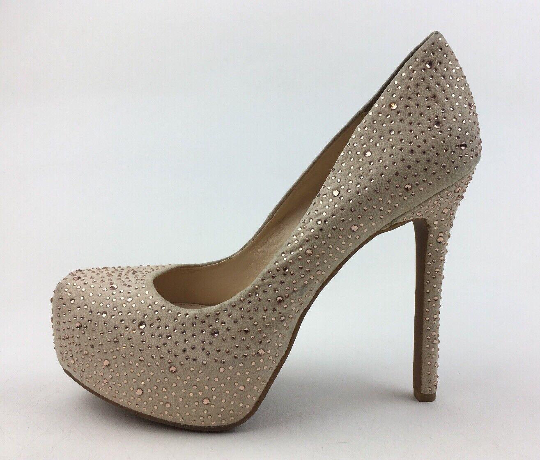 Jessica Simpson Rebeca 2 Jeweled talons compensés FEMME Taille 9.5 m, beige 2867