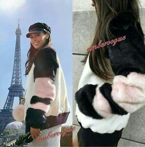 Blanc Zara Fourrure Veste Modernes Élégants – Vêtements 8aqFwx